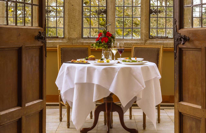Dining at Waterford Castle.