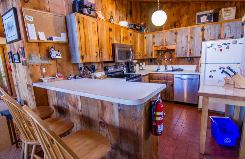 Rental kitchen at The Killington Group.