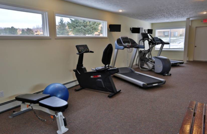 Fitness room at Trout Creek Condominium Resort.