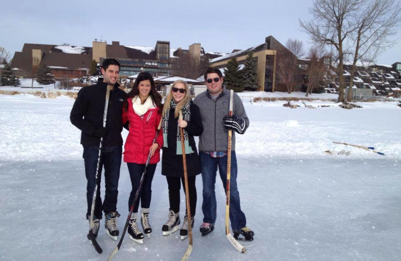 Ice hockey at Arrowwood Resort.