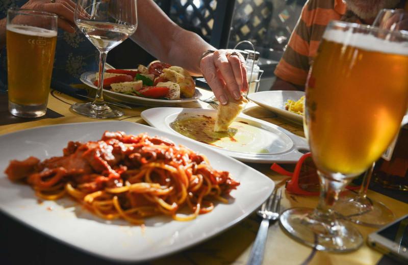 Dining at Blue Diamond Marina & Resort.