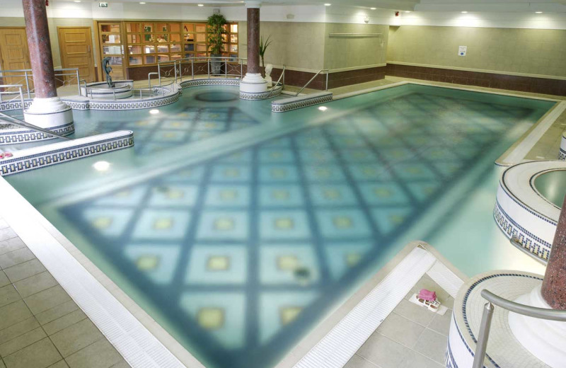 Indoor pool at La Mon Country House Hotel.