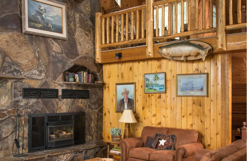 Cabin interior at Averill's Flathead Lake Lodge.