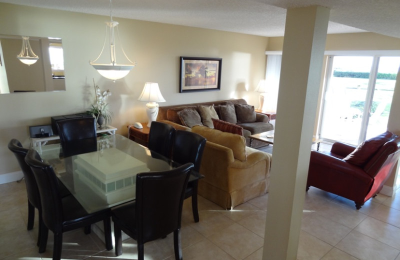 Spacious rentals at Sand Cay Beach Resort.