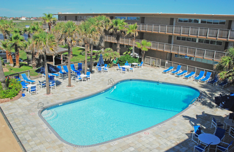 Outdoor pool at Island House Beach Front Condominiums.