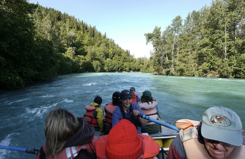 Rafting at Gwin's Lodge & Kenai Peninsula Charter Booking Service.