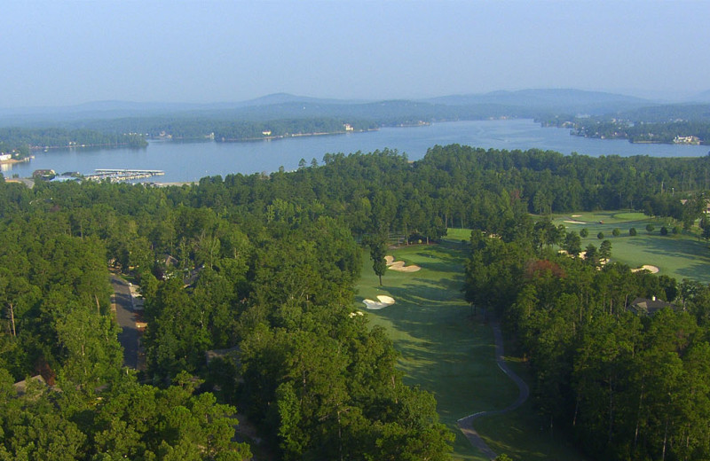 Golf course near Hot Springs Village Rentals.