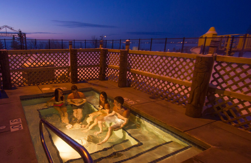 Hot tub at EdgeWater Resort and Waterpark.