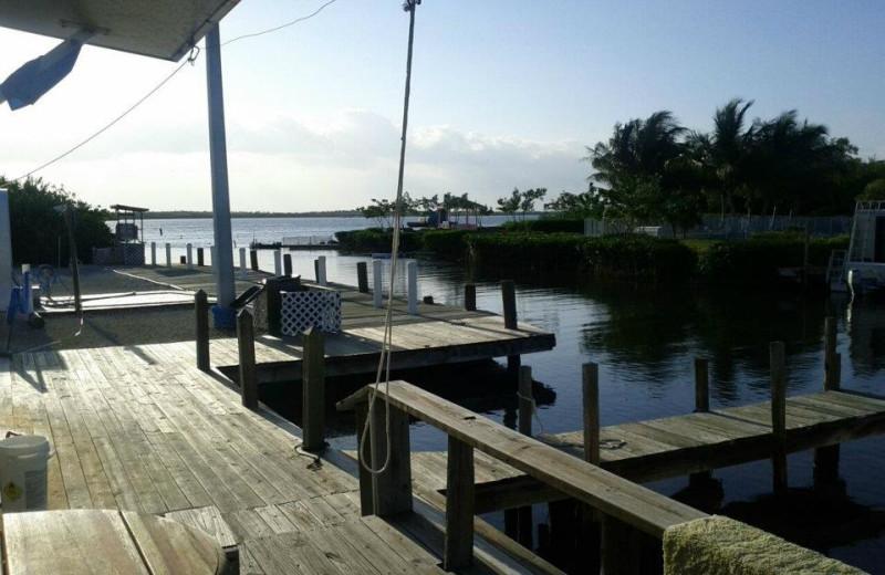 Marina at Old Wooden Bridge Fishing Camp.