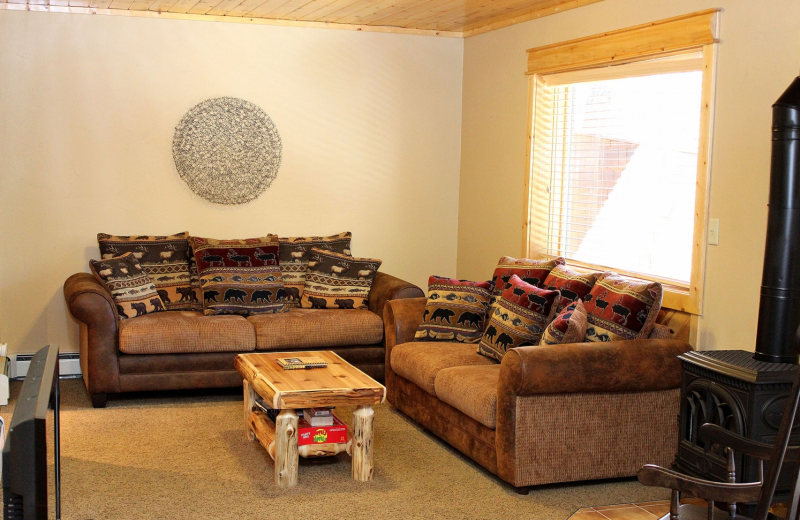 Condo living room at Bear Creek Vacation Condos.