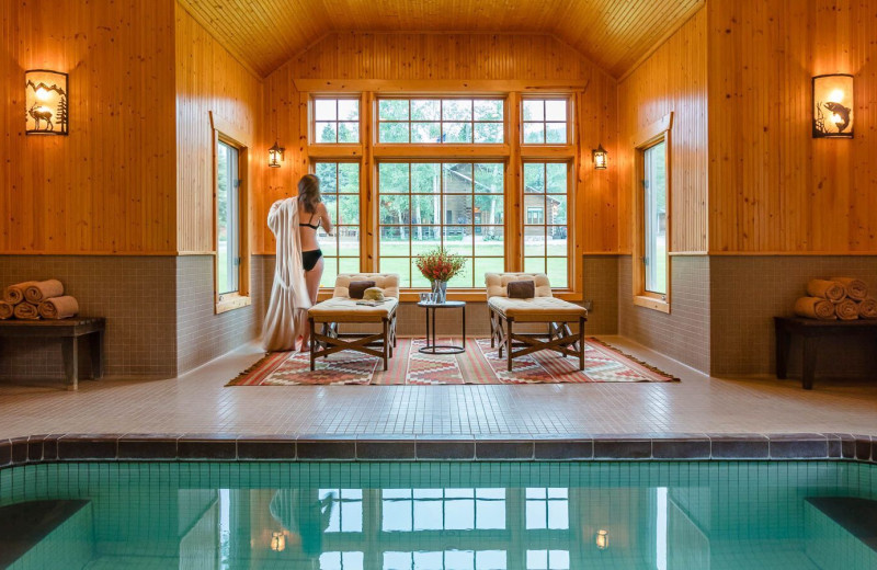Indoor pool at 4UR Ranch.