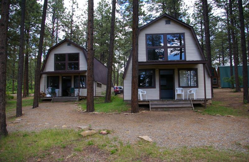 Cabin exterior at Echo Basin Cabin And RV Resort.