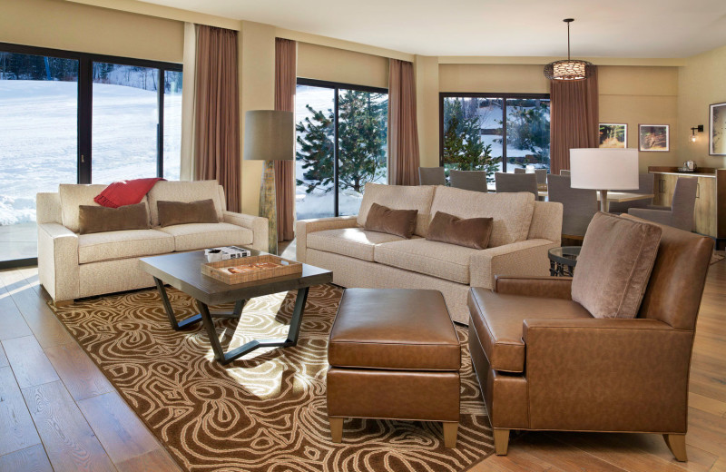 Guest living room at The Westin Snowmass Resort.