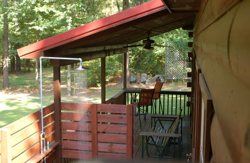 Cabin deck at Remember When Cabins.