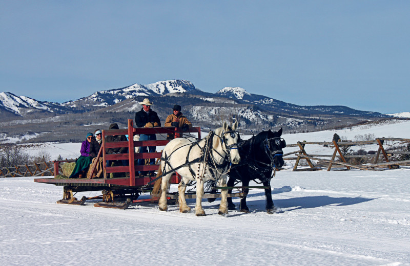 Sleigh ride at The Home Ranch.
