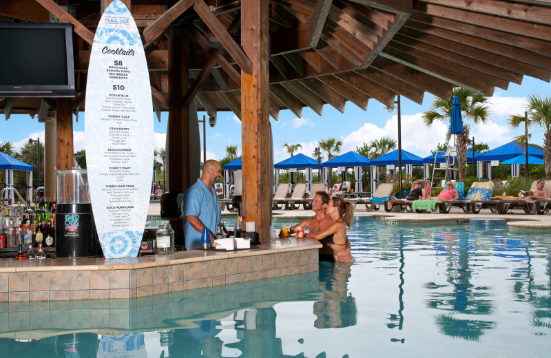 Poolside bar at North Beach Plantation.