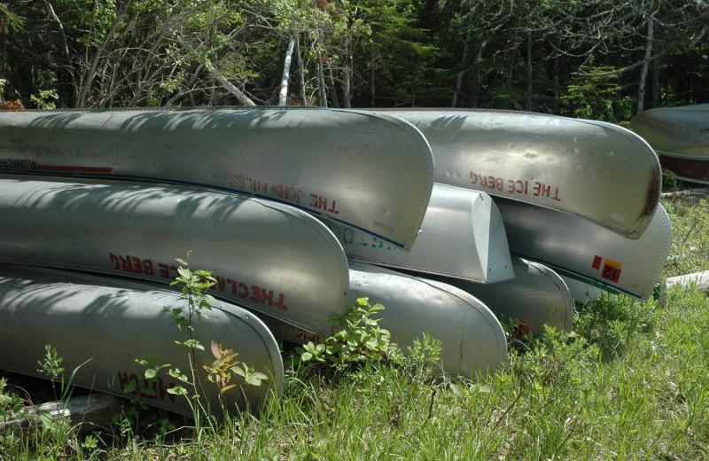 Canoes at Heston's Lodge.