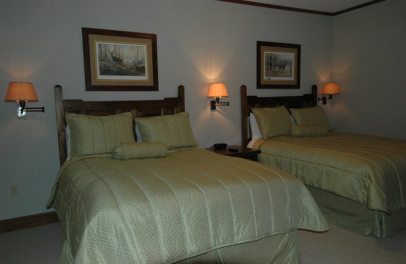 Guest room at Deer Creek Lodge.