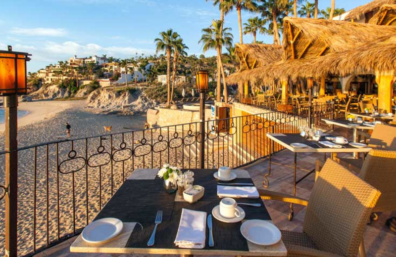 Patio at Cabo Surf Hotel & Spa.