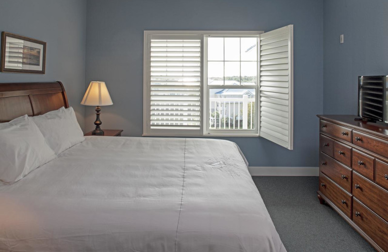 Guest room at Bluewater Resort and Marina.