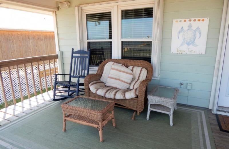 Rental deck at ACP Vacation Rentals.