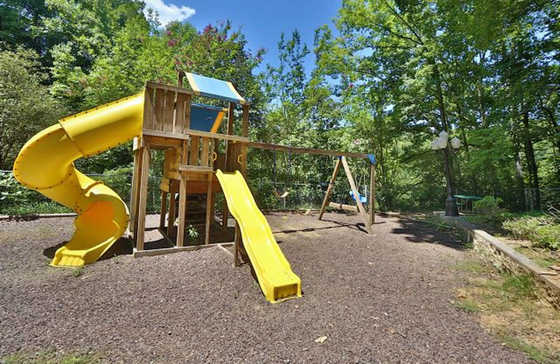 Kids playground at Smoky Mountain Resort Lodging and Conference Center.