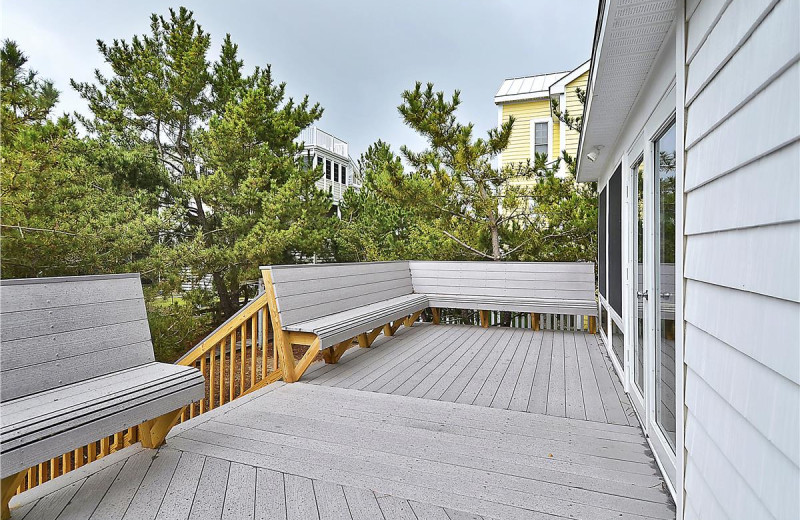 Rental deck at Long & Foster Vacation Rentals -Bethany Beach.