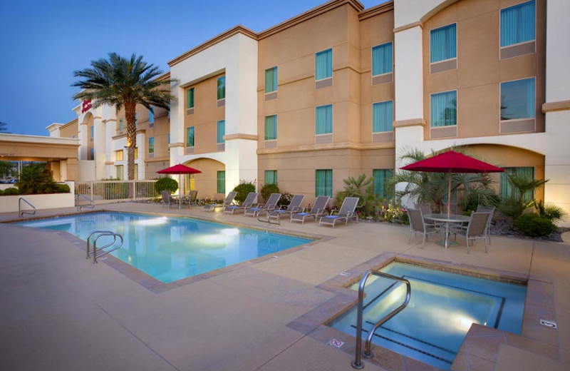 Outdoor pool at Hampton Inn & Suites Desert Palm.