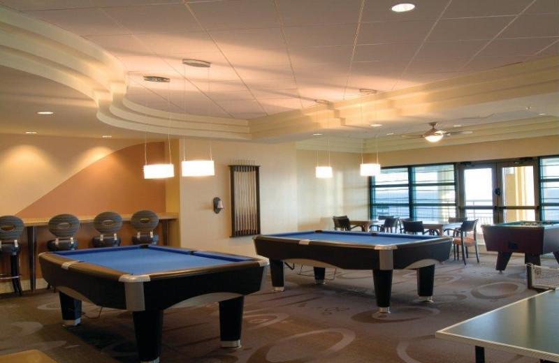 Recreation room at Wyndham Ocean Boulevard.