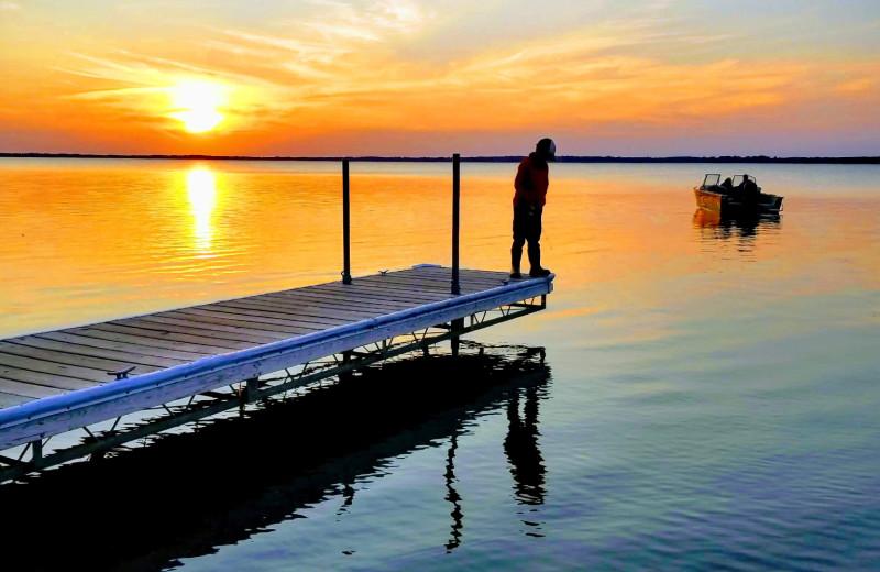 Lake near Pelican Motel.