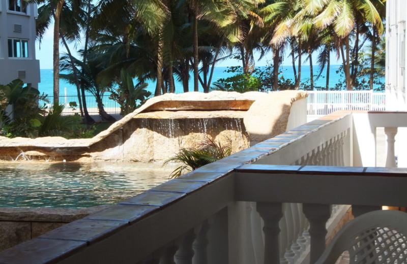 Outdoor pool at Acacia Boutique Hotel.