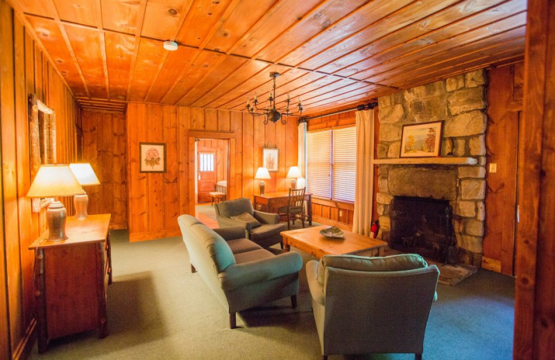 Fireplace view at High Hampton Inn.