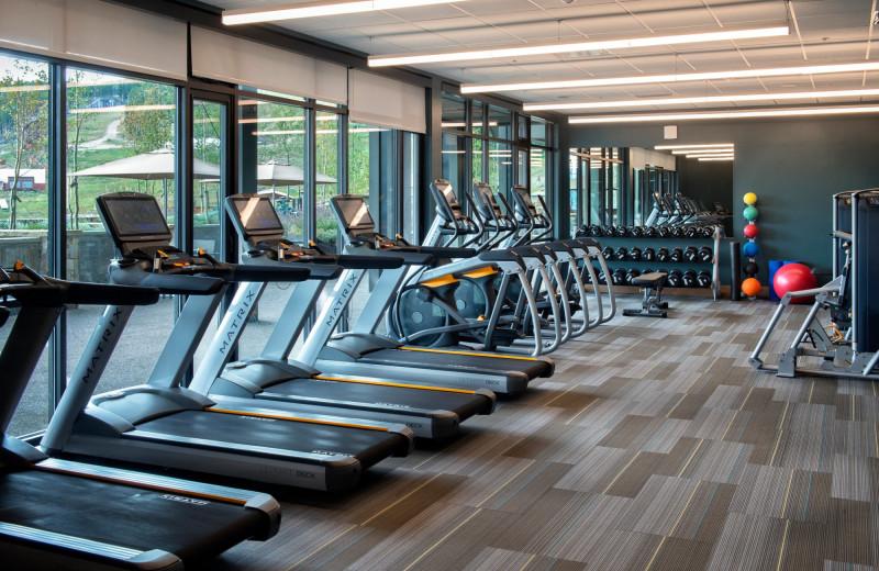 Fitness room at Grand Colorado on Peak 8.