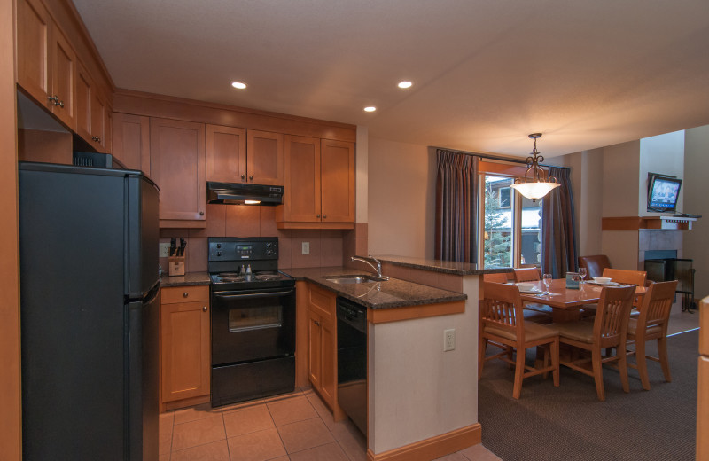 Guest kitchen at Hidden Ridge Resort.