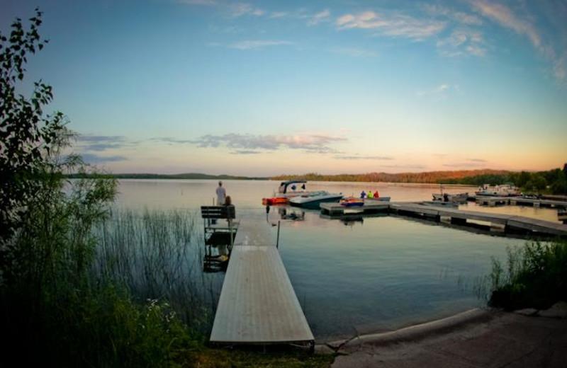 Lake view at Thunder Lake Lodge.