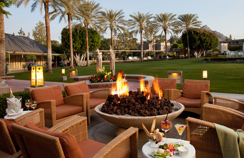 Fire Pit View at Arizona Biltmore Resort