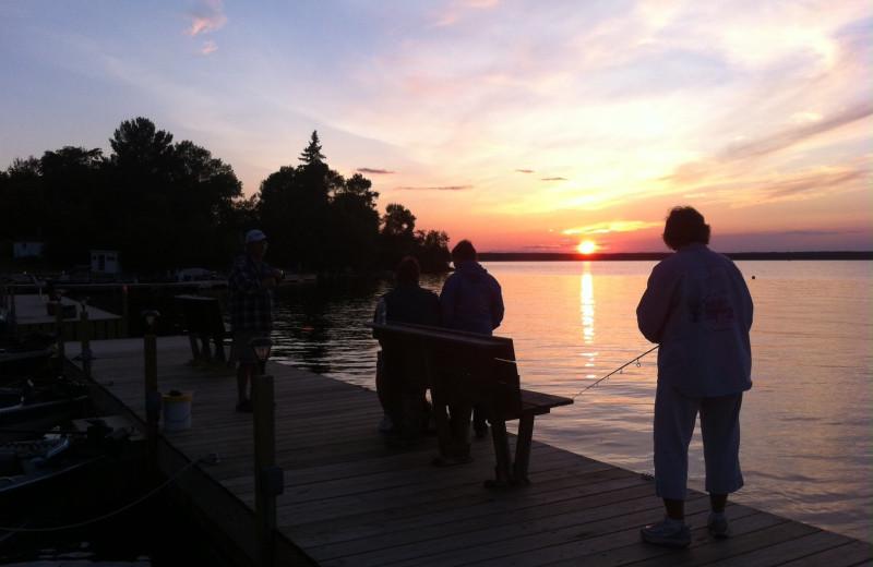 Lake view at Pine Tree Cove Resort.