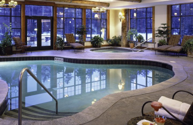 Indoor pool at The Whiteface Lodge.