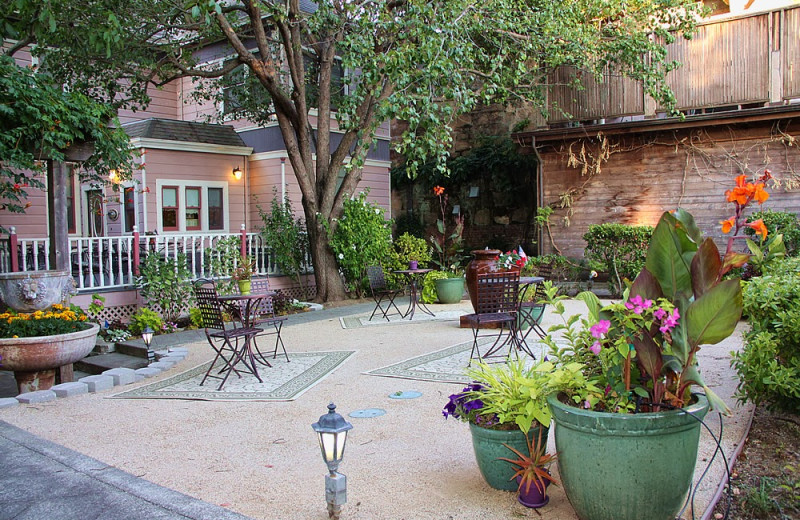 Patio at Hennessey House Bed & Breakfast.