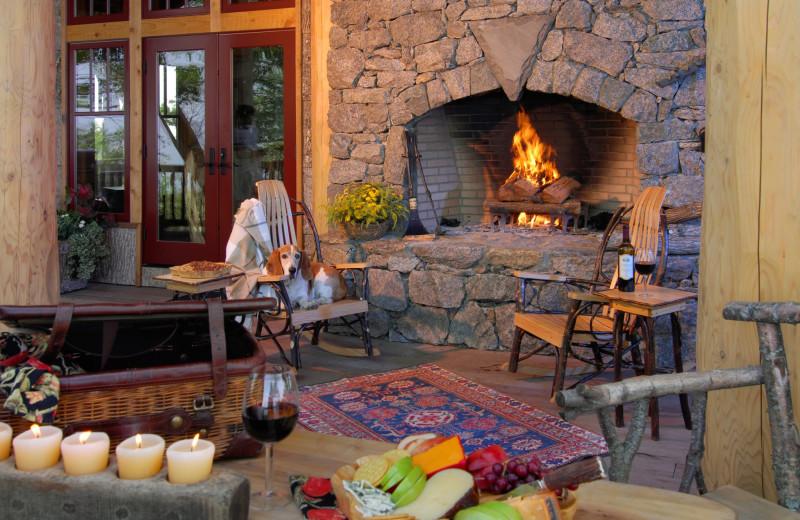 Cabin patio at Blue Ridge Vacation Cabins.