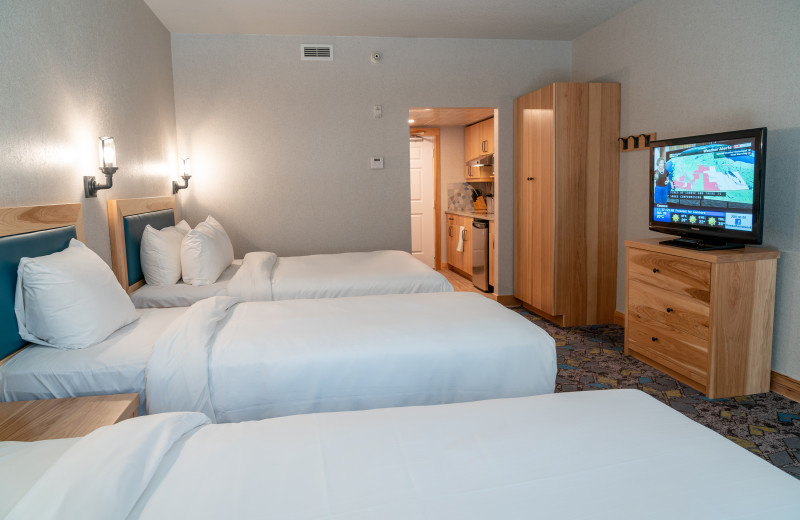 Guest room at Tunnel Mountain Resort