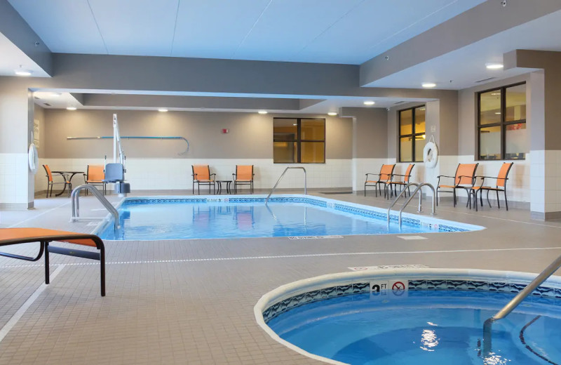 Indoor pool at Hampton Inn Lima Ohio.