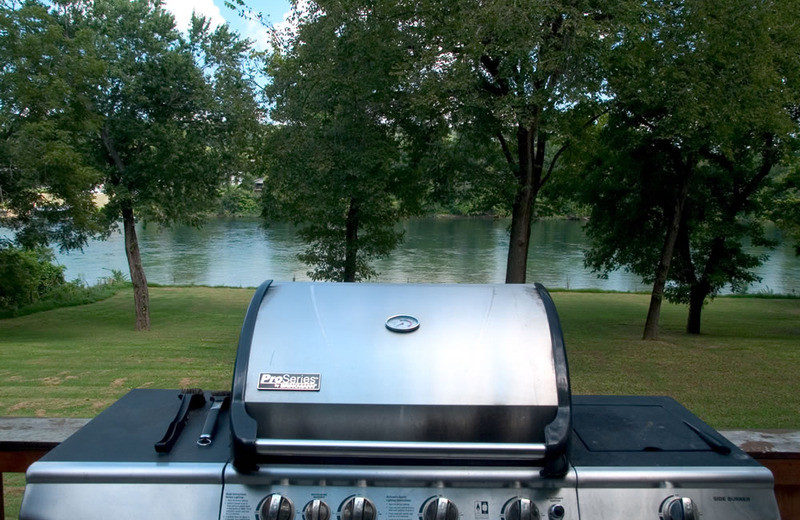 Guest grill at Norfork Resort & Trout Dock.