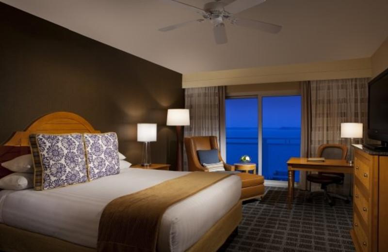 King suite at Hyatt Regency Chesapeake Bay Golf Resort, Spa and Marina.