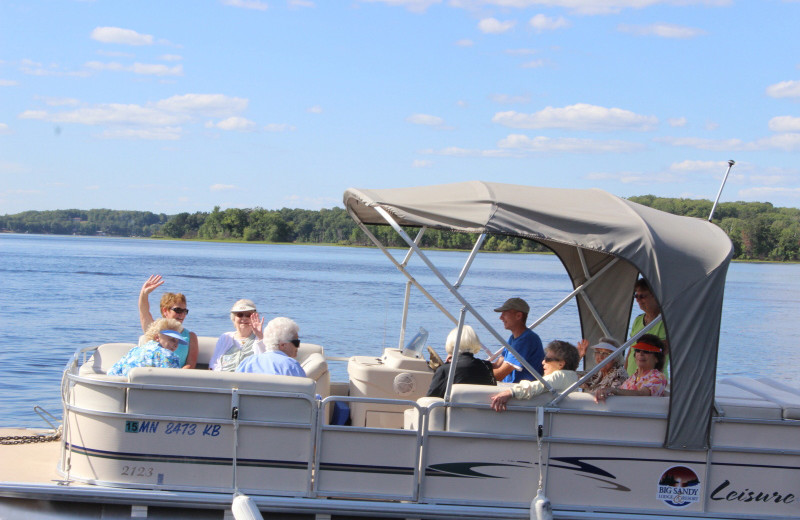 Pontoon at Big Sandy Lodge & Resort.