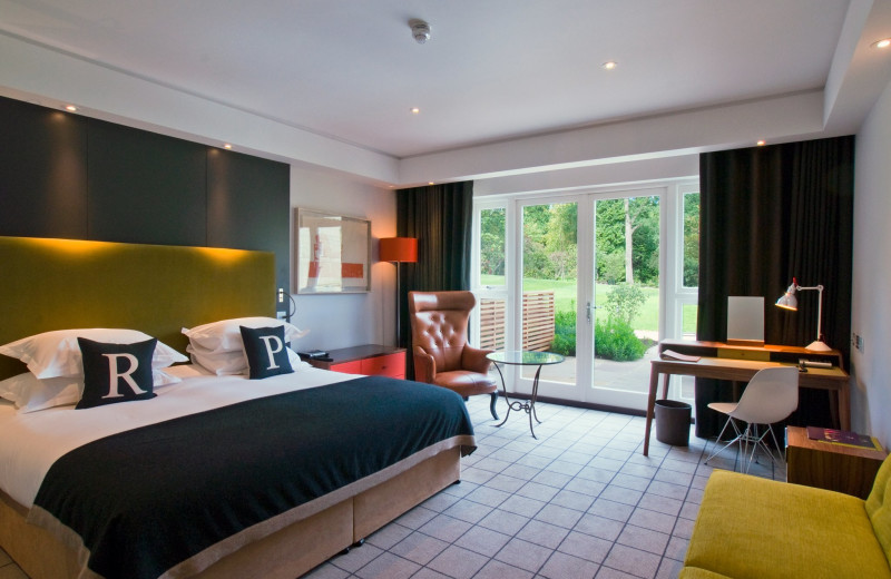 Guest room at Rudding Park.
