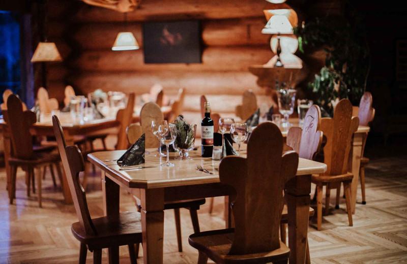 Dining at Big Creek Lodge.