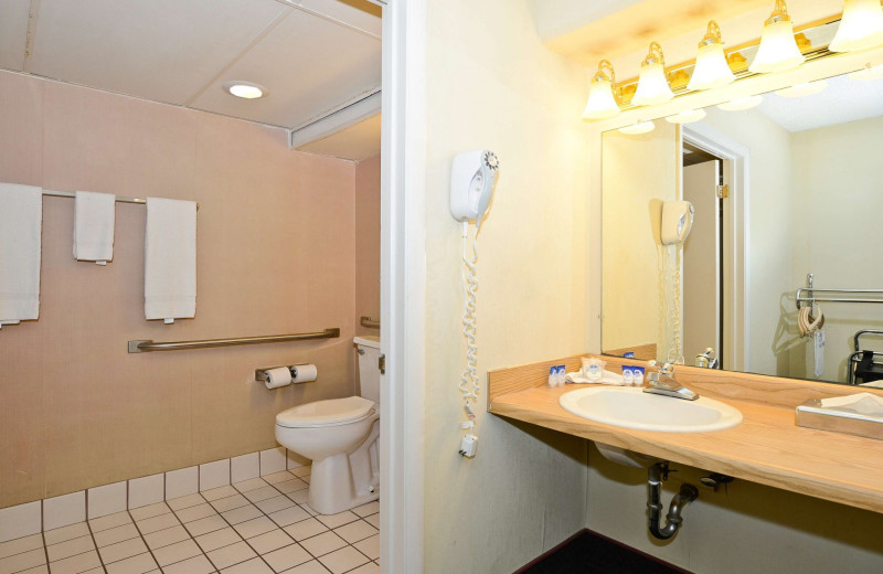 Guest bathroom at America's Best Value Inn - Benton Harbor.