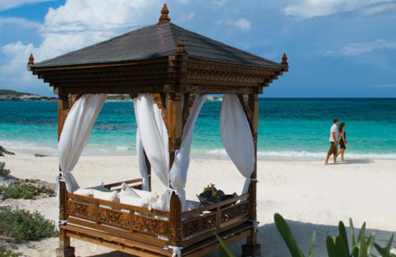 Beach at Musha Cay Resort.