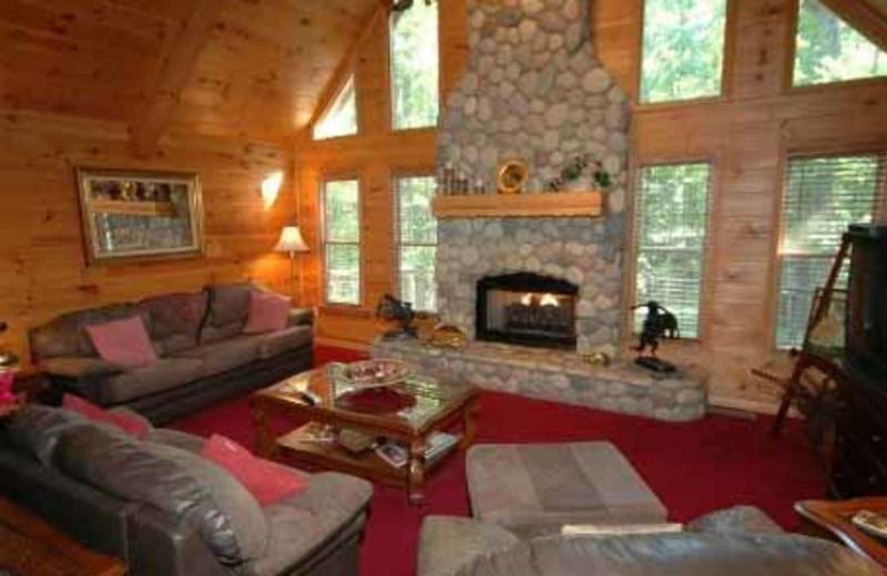 Living Room at JP Ridgeland Cabin Rentals